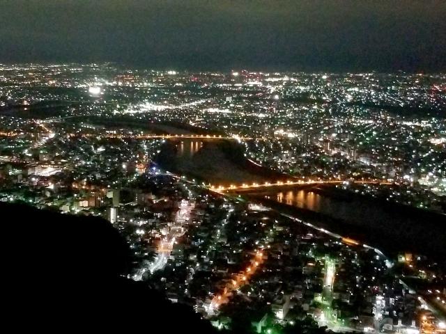 金華山の夜景
