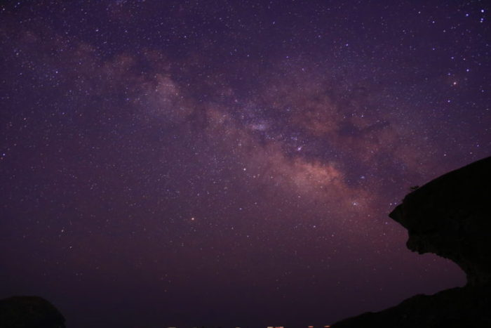 鬼ヶ城から見える星空