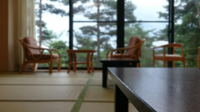 温泉宿の客室